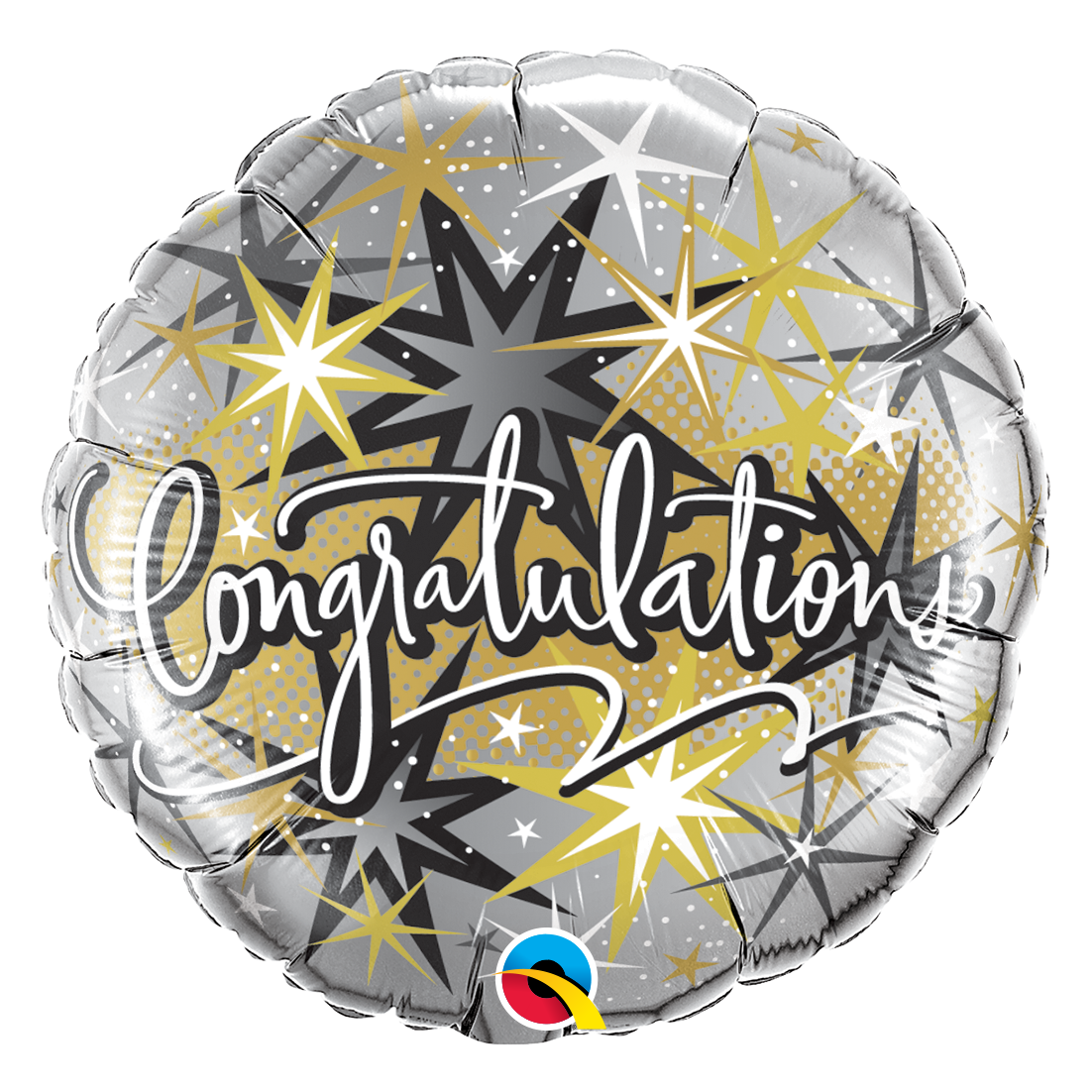 """Picture of 18"""" Congratulations Elegant Foil Balloon  (helium-filled)"""