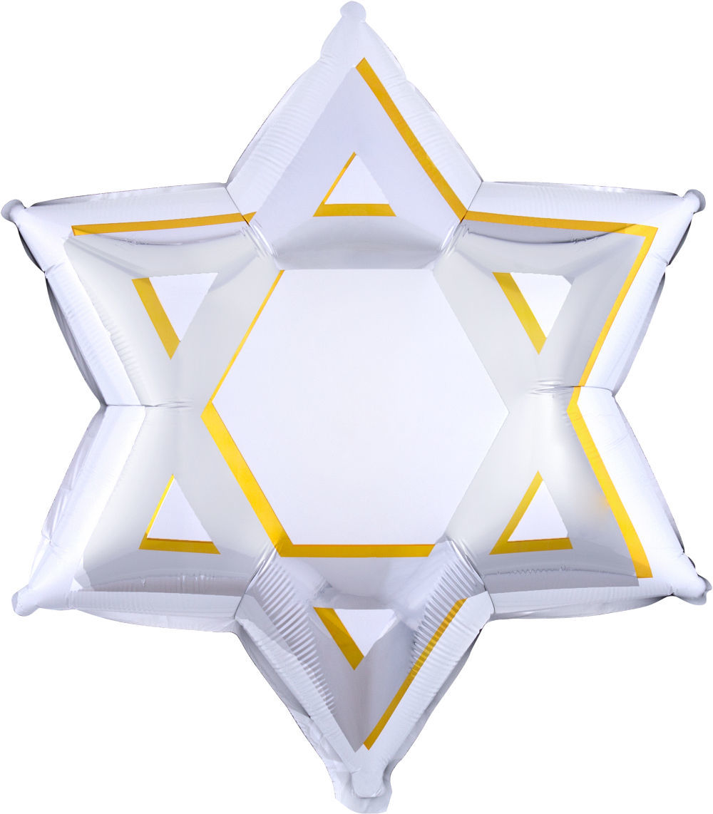 Picture of Star of David Foil Balloon (helium-filled)