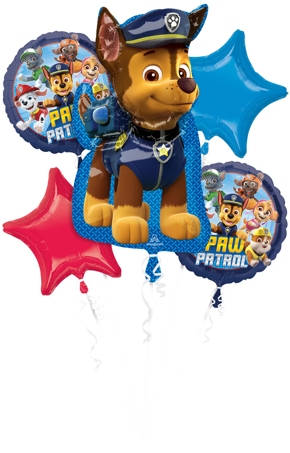 Picture of Chase PAW Patrol Foil Balloon Bouquet  (5pc)