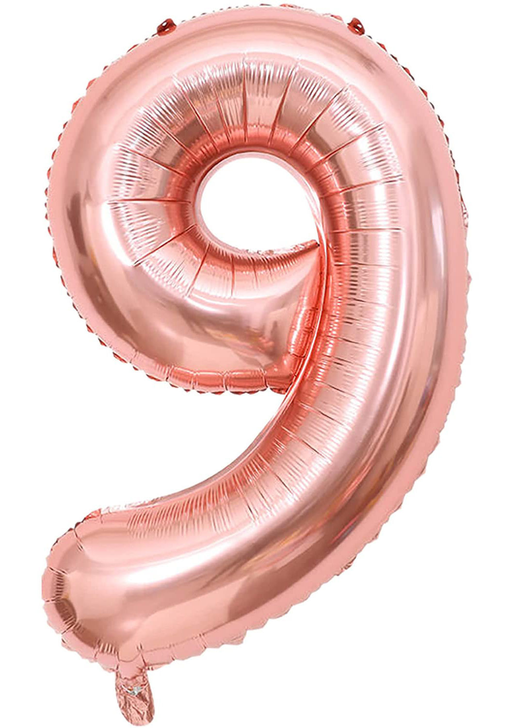 Picture of 34'' Foil Balloon Number 9 - Rose Gold (helium-filled)