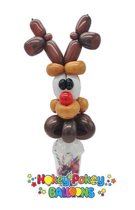 Picture of Reindeer Face - Balloon Candy Cup