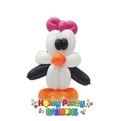 Picture of Penguin with Bow Balloon